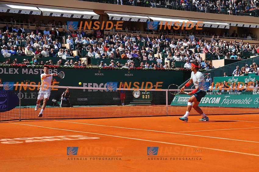 Novak Djokovic (Ser) and Rafael Nadal (Esp) .Monaco 21/4/2013 Principato di Monaco.Finale Torneo Tennis Monte Carlo .Foto Panoramic / Insidefoto .ITALY ONLY