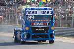 German driver Stephanie Halm belonging German team Stephanie Halm during the fist race R1 of the XXX Spain GP Camion of the FIA European Truck Racing Championship 2016 in Madrid. October 01, 2016. (ALTERPHOTOS/Rodrigo Jimenez)