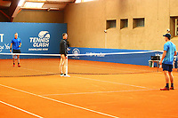 1st May 2020, Hohr Grenzhausen, Germany;  Jan Choinski and Florian Broska during todays Tennis Point Exhibition, taking place just outside the small town of Hohr Grenzhausen which is the 1st official sporting event in 37 days in Germany