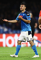 5th November 2019; Stadio San Paolo, Naples, Campania, Italy; UEFA Champions League Group Stage Football, Napoli versus Red Bull Salzburg; Hirving Lozano of Napoli - Editorial Use