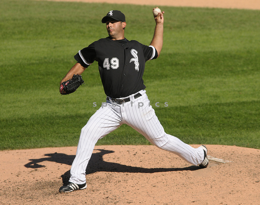 HORACIO RAMIREZ, of the Chicago White Sox, in action during the White Sox, game against the Toronto Blue Jays, in Chicago, IL  on September 9, 2008..The Toronto Blue Jays  won 3-1