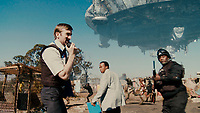 District 9 (2009) <br /> Sharlto Copley, Mandla Gaduka and Kenneth Nkosi<br /> *Filmstill - Editorial Use Only*<br /> CAP/KFS<br /> Image supplied by Capital Pictures