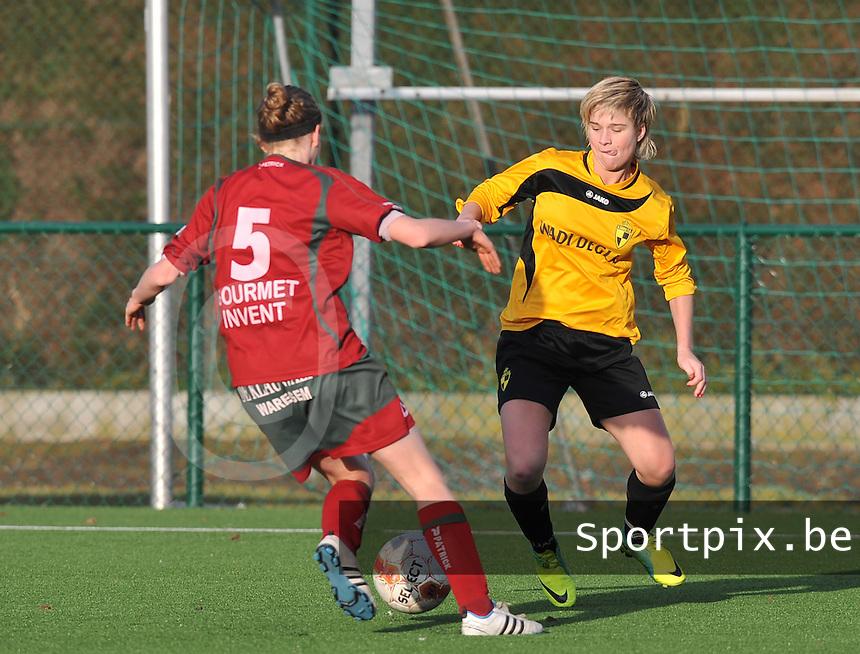 Dames Zulte Waregem - SK Lierse WD : Stephanie Van Gils.foto DAVID CATRY / Vrouwenteam.be