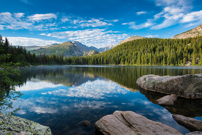 morning at Bear Lake in Rocky Mountain National Park, Colorado, USA
