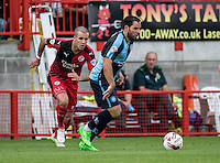 Sam Wood of Wycombe Wanderers during the Sky Bet League 2 match between Crawley Town and Wycombe Wanderers at Checkatrade.com Stadium, Crawley, England on 29 August 2015. Photo by Liam McAvoy.