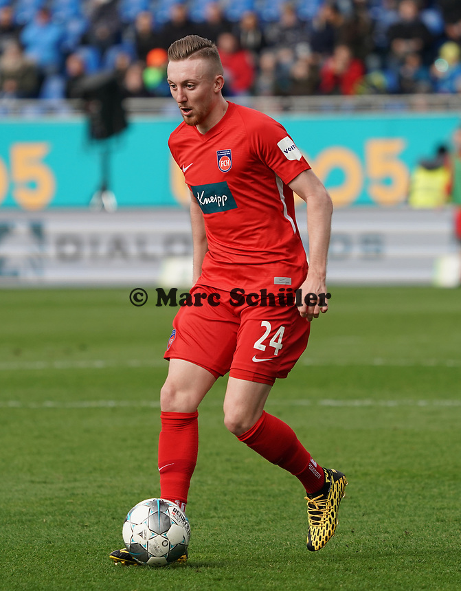 Tobias Mohr (1. FC Heidenheim) - 29.02.2020: SV Darmstadt 98 vs. 1. FC Heidenheim, Stadion am Boellenfalltor, 24. Spieltag 2. Bundesliga<br /> <br /> DISCLAIMER: <br /> DFL regulations prohibit any use of photographs as image sequences and/or quasi-video.