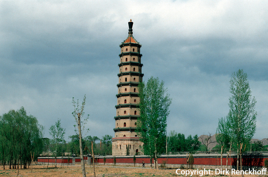 China, Sommerpalast in Chengde, Liu He Pagode, Unesco-Weltkulturerbe