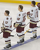 Pat Gannon, Chris Collins, Joe Adams  The Boston College Eagles defeated the Providence College Friars 3-2 in regulation on October 29, 2005 at Kelley Rink in Conte Forum in Chestnut Hill, MA.  It was BC's first Hockey East win of the season and Providence's first HE loss.
