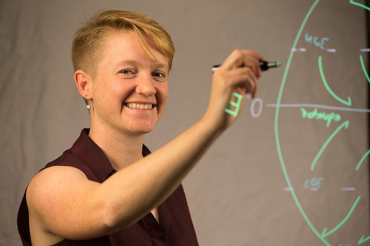 Geology grad student Elisabeth Learning Glass