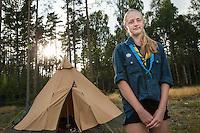 20140805 Vilda-l&auml;ger p&aring; Kragen&auml;s. Foto f&ouml;r Scoutshop.se<br /> skog, scout, t&auml;lt, gr&auml;s, l&auml;gerplats, soluppg&aring;ng