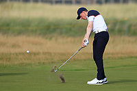 Euan Walker (GB&I) on the 17th during Day 2 Singles at the Walker Cup, Royal Liverpool Golf CLub, Hoylake, Cheshire, England. 08/09/2019.<br /> Picture Thos Caffrey / Golffile.ie<br /> <br /> All photo usage must carry mandatory copyright credit (© Golffile | Thos Caffrey)