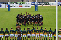 The New Zealand team performs a haka during the World Championship U20 3rd place match between South Africa and New Zealand on June 17, 2018 in Beziers, France. (Photo by Alexandre Dimou/Icon Sport)