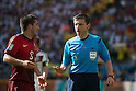 Joao Moutinho (POR), Milorad Mazic (Referee), JUNE 16, 2014 - Football / Soccer : FIFA World Cup Brazil 2014 Group G match between Germany 4-0 Portugal at Arena Fonte Nova in Salvador, Brazil. (Photo by Maurizio Borsari/AFLO)