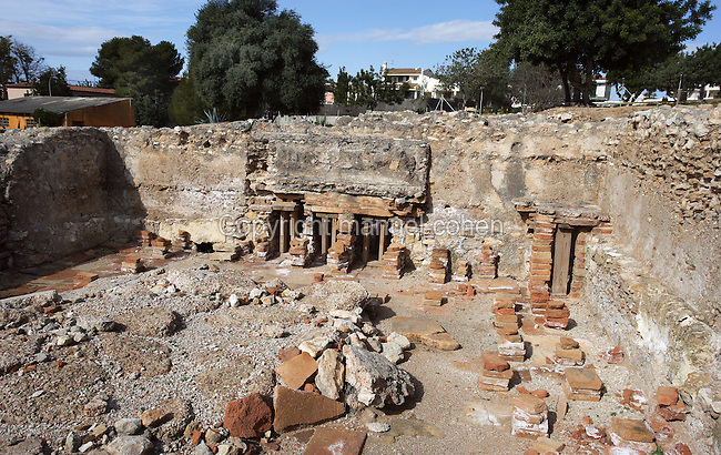 The Caldarium; Villa of El Munts; I Century AD, Tarragona (Tarraco, Hispania Citerior), Catalonia, Spain; one of the largest built on a hill overlooking the coast, only 12 km from Tarragona (Tarraco). © Manuel Cohen