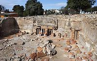 The Caldarium; Villa of El Munts; I Century AD, Tarragona (Tarraco, Hispania Citerior), Catalonia, Spain; one of the largest built on a hill overlooking the coast, only 12 km from Tarragona (Tarraco). © Manuel Cohen