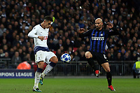 Sime Vrsaljko of Internazionale and Erik Lamela of Tottenham Hotspur during Tottenham Hotspur vs Inter Milan, UEFA Champions League Football at Wembley Stadium on 28th November 2018
