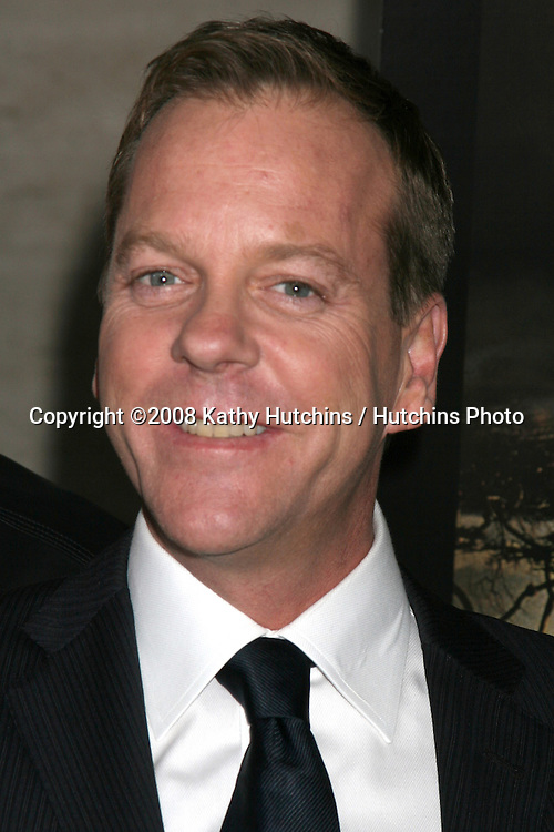"Kiefer Sutherland arriving at a photo exhibit featuring the photos taken during the production of ""24:  Redemption - Captured in Africa""  , Exhibit at the Paley Center for Media in Beverly Hills, CA on .November 10, 2008.©2008 Kathy Hutchins / Hutchins Photo...                . ."