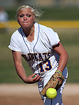 Western Nevada's Carlee Beck pitches in a college softball game against College of Southern Idaho in Carson City, Nev., on Friday, March 22, 2013..Photo by Cathleen Allison/Nevada Photo Source