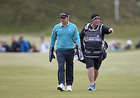 27 May 2015; Paul McGinley feeling the chill<br /> <br /> Dubai Duty Free Irish Open Golf Championship 2015, Pro-Am. Royal County Down Golf Club, Co. Down. Picture credit: John Dickson / DICKSONDIGITAL
