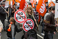 Britain Needs A Pay Rise, TUC Demo, London, 17th Oct 2014