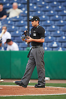 Umpire Reid Joyner during a game between the Charlotte Stone Crabs and Clearwater Threshers on April 12, 2016 at Bright House Field in Clearwater, Florida.  Charlotte defeated Clearwater 2-1.  (Mike Janes/Four Seam Images)