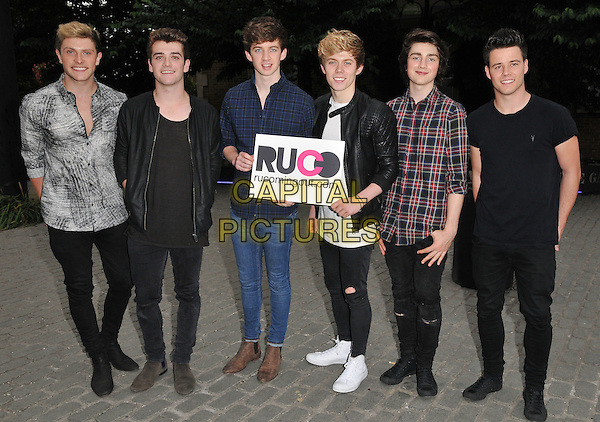 LONDON, ENGLAND - JULY 23: HomeTown attend the RUComingOut.com summer party, Royal Vauxhall Tavern, Kennington Lane, on Thursday July 23, 2015 in London, England, UK.  <br /> CAP/CAN<br /> &copy;Can Nguyen/Capital Pictures