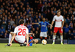 25.10.18 Rangers v Spartak Moscow: Eros Grezda felled in the box