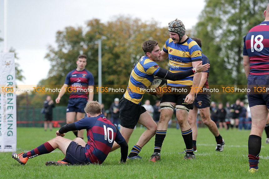 Upminster score their third try during Upminster RFC vs East London RFC, London 3 Essex Division Rugby Union at Hall Lane Playing Fields on 19th October 2019