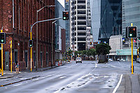 Waterloo Quay. Wellington CBD during lockdown for the COVID19 pandemic in Wellington, New Zealand on Friday, 3 April 2020. Photo: Dave Lintott / lintottphoto.co.nz
