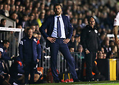 31st October 2017, Craven Cottage, London, England; EFL Championship football, Fulham versus Bristol City; Fulham Manager Slavisa Jokanovic looking on from the touchline