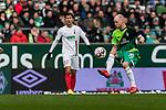 10.02.2019, Weserstadion, Bremen, GER, 1.FBL, Werder Bremen vs FC Augsburg<br /><br />DFL REGULATIONS PROHIBIT ANY USE OF PHOTOGRAPHS AS IMAGE SEQUENCES AND/OR QUASI-VIDEO.<br /><br />im Bild / picture shows<br />Davy Klaassen (Werder Bremen #30), <br /><br />Foto &copy; nordphoto / Ewert