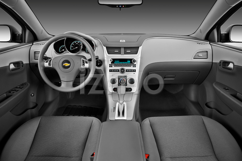Straight dashboard view of a 2012 Chevrolet Malibu 1LS .