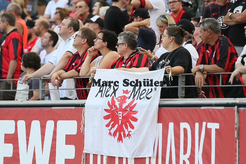 Fans von Alex Meier - 27.08.2016: Eintracht Frankfurt vs. FC Schalke 04, Commerzbank Arena