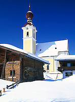 Austria, Tyrol, Kaiserwinkl, Going: village church
