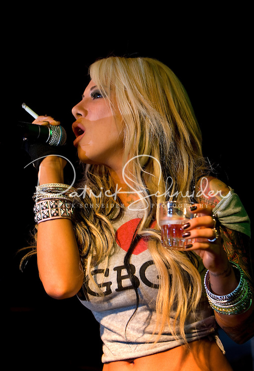 A singer rocks the crowds in the Alleycat bar in Charlotte, NC. Photos taken with permission of bar management.