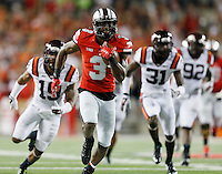 Ohio State Buckeyes wide receiver Michael Thomas (3) brakes away for a touchdown in the third quarter at Ohio Stadium September 6, 2014. (Dispatch photo by Eric Albrecht)
