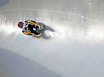 6 February 2009: Tatjana Hüfner from Germany slides through a curve in the Women's Competition finishing in 6th place for the event with a combined time of 1:28.802 at the 41st FIL Luge World Championships, in Lake Placid, New York, USA. .  .Mandatory Photo Credit: Ed Wolfstein Photo