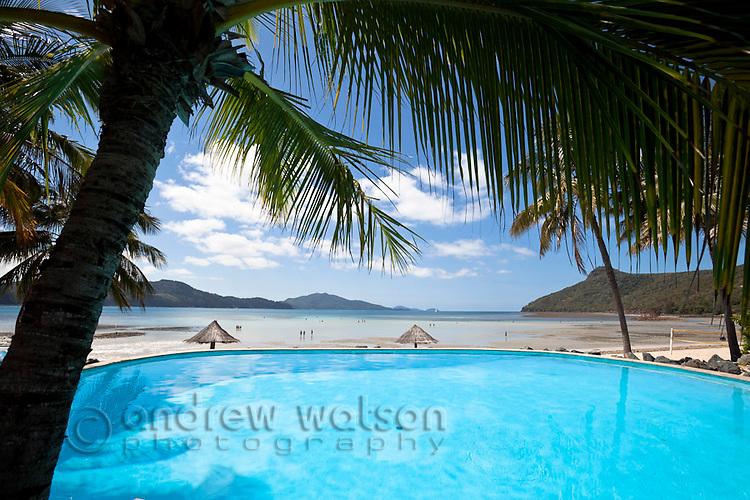 Swimming pool at Hamilton Island resort.  Hamilton Island, Whitsundays, Queensland, Australia