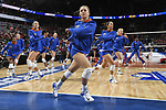 KANSAS CITY, MO - DECEMBER 16: Allie Monserez (22) of the University of Florida warms up with teammates during the Division I Women's Volleyball Championship held at Sprint Center on December 16, 2017 in Kansas City, Missouri. (Photo by Jamie Schwaberow/NCAA Photos via Getty Images)