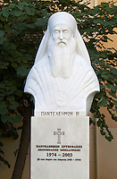 Statue of Panteleimon, 1974 - 2003. Priest. Thessaloniki, Macedonia, Greece