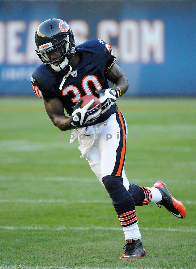 DJ MOORE, of the Chicago Bears, in action during the Bears game against the Arizona Cardinals at Soldier Field in Chicago, IL.  on August 28, 2010.  The Cardinals beat the Bears 14-9 in the third week of preseason games...