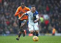Blackburn Rovers Adam Armstrong and Oldham Athletic's Ousmane Fane in action during todays match <br /> <br /> Photographer Rachel Holborn/CameraSport<br /> <br /> The EFL Sky Bet League One - Blackburn Rovers v Oldham Athletic - Saturday 10th February 2018 - Ewood Park - Blackburn<br /> <br /> World Copyright &copy; 2018 CameraSport. All rights reserved. 43 Linden Ave. Countesthorpe. Leicester. England. LE8 5PG - Tel: +44 (0) 116 277 4147 - admin@camerasport.com - www.camerasport.com