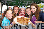 Claudia Clifford, Roisin Hayes, Hannah Kate Duffy, Máirin Duffy and Catriona Hayes Cromane selling Toffee at the Flavour of Killorglin on Sunday