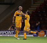 Michael Higdon congratulated on his goal