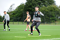 Matt Grimes of Swansea City in action during the Swansea City Training Session at The Fairwood Training Ground, Wales, UK. Tuesday 11th September 2018