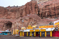 Indain Trading Posts on the Arizona and New Mexico Border along Route 66.  The area is known as the Painted Cliffs.