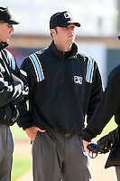 April 10, 2010:  Field Umpire Scott Mahoney prior to a game at Blair County Ballpark in Altoona, PA.  Photo By Mike Janes/Four Seam Images