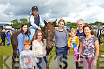 Caoimhe Kearney Moyvane on Filo with l-r: Sinead Sheahan Killarney, Muiris Kearney Moyvane, Millie Luck, Kate Logan, Aideen, Mylie and Sinead Kearney Moyvane at the horse fair in Puck Fair on Sunday