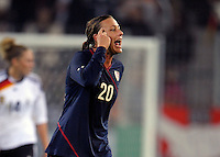 Abby Wambach. US Women's National Team defeated Germany 1-0 at Impuls Arena in Augsburg, Germany on October 29, 2009.