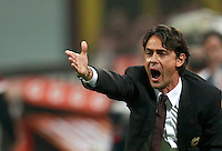 Calcio, Serie A: Milan vs Juventus, Milano, stadio San Siro, 20 settembre 2014.<br /> Milan coach Filippo Inzaghi gives suggestions to his players during the Italian Serie A football match between AC Milan and Juventus at Milan's San Siro stadium, 20 September 2014.<br /> UPDATE IMAGES PRESS/Isabella Bonotto
